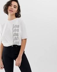 Lee Seasonal Repeat Logo T White