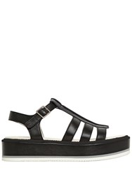 Jil Sander 40Mm Leather Wedge Sandals