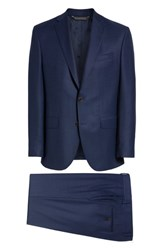 David Donahue Ryan Classic Fit Solid Wool Suit Blue