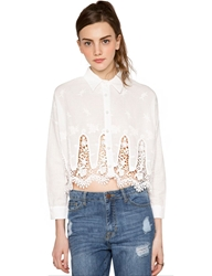 Pixie Market Lace Leaf Blouse