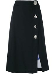 Emilio Pucci Oversized Button Detailed Skirt Black
