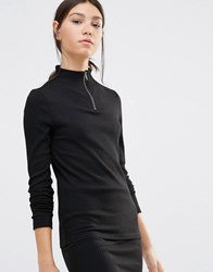Pieces Pica Ribbed Sweater Black