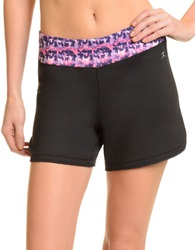 Danskin Yogi Petal Shorts Rich Black