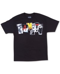 Famous Stars And Straps Men's Trashed Graphic Print T Shirt Black