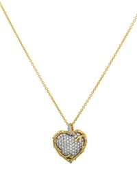 Michael Aram 18K Enchanted Forest Twig Heart Necklace W Diamonds