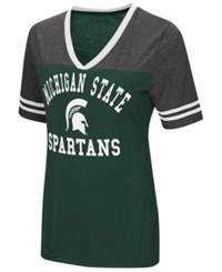 Colosseum Michigan State Spartans Whole Package T Shirt Green Charcoal