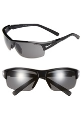 Nike 'Show X2' Semi Rimless 69Mm Sunglasses Black