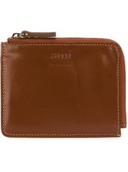 Ami Alexandre Mattiussi Logo Embossed Wallet Nude And Neutrals