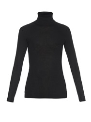 Gucci Roll Neck Ribbed Knit Cashmere Sweater