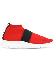 Joshua Sanders Pull On Mesh Sneakers Red