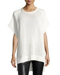 French Connection Fishermen's Net Cap Sleeve Sweater White