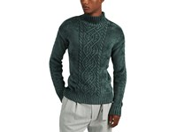 Sies Marjan Rory Velour Mock Turtleneck Sweater Green