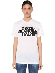 Dsquared Renny Fit Cotton Jersey T Shirt White