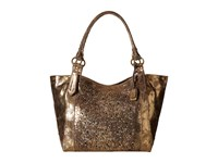 Frye Deborah Shoulder Gold Metallic Vintage Leather Shoulder Handbags