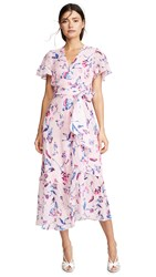 Tanya Taylor New Blaire Dress Tie Dye Floral Pink
