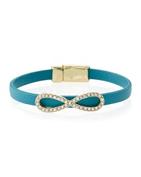 Fragments For Neiman Marcus Fragments Skinny Leather Infinity Bracelet Turquoise