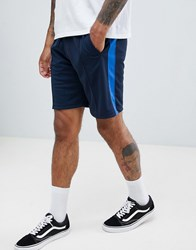 Pull And Bear Pullandbear Shorts In Blue With Side Stripe