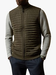 Ted Baker Rapids Quilted Jersey Gilet Green