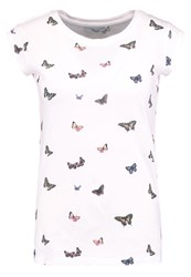 Only Onlbone Butterfly Print Tshirt Cloud Dancer Off White