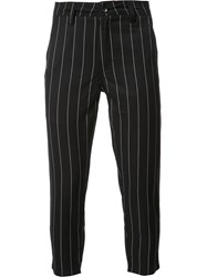 Publish Pinstripe Cropped Trousers Black