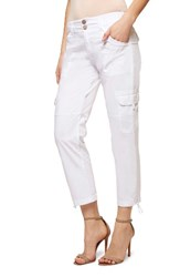 Sanctuary Women's Terrain Crop Cargo Pants White