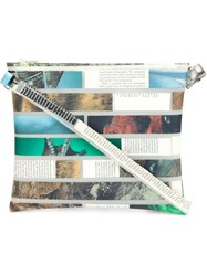 Luisa Cevese Riedizioni Magazine Collage Shoulder Bag White