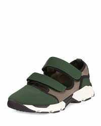 Marni Woven Double Strap Mary Jane Sneaker Bayberry Green