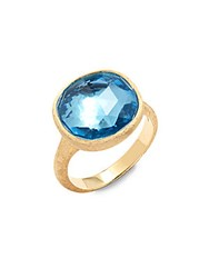 Marco Bicego Jaipur Blue Topaz And 18K Yellow Gold Ring