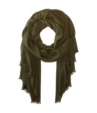 Love Quotes Rayon Eyelash Scarf Pesto Scarves Green