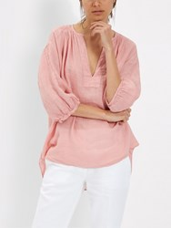 Jaeger Linen Tunic Top Blush