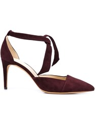 Alexandre Birman Pointed Toe Pumps Red