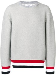Thom Browne Oversized Chunky Loopback Pullover Grey