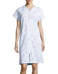 Miss Elaine Floral Printed Night Gown Blue