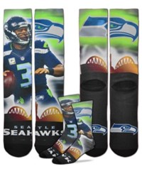 For Bare Feet Russell Wilson Seattle Seahawks City Star Player Crew Socks Navy