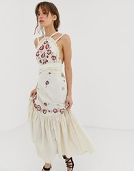 Free People Chrysanthemum Kiss Maxi Dress Cream