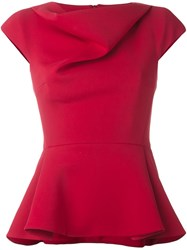Chalayan Cap Sleeve Top Red