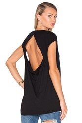Chaser Drape Back Muscle Tee Black