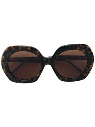 Thom Browne Rounded Sunglasses Women Acetate 54 Brown