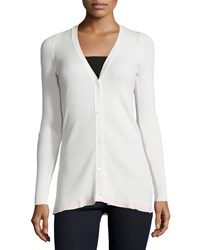 See By Chloe V Neck Button Front Cardigan Ivory