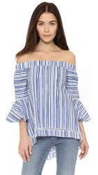N Nicholas Washed Stripe Off Shoulder Top