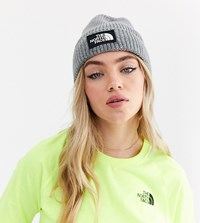 The North Face Tnf Box Logo Cuff Beanie In Grey