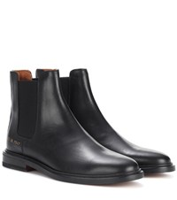 Common Projects Leather Chelsea Boots Black