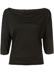 Peter Cohen Cowl Neck T Shirt Black