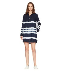 Allen Allen 3 4 Sleeve Tie Dye Dress Lapis Navy