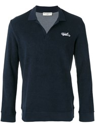 Editions M.R Terry Knit Polo Shirt Blue