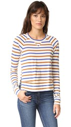 Stateside Long Sleeve Stripe Tee Cream
