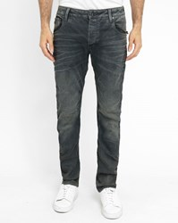 G Star Grey Arc Zip 3D Stretch Coated Slim Fit Jeans