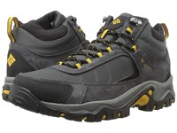 Columbia Granite Ridge Mid Waterproof Dark Grey Golden Yellow Men's Shoes Black