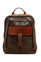 Jack Georges Genuine Buffalo Leather Backpack Brown
