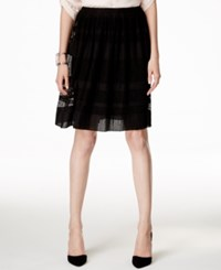 Alfani Pull On Textured Mesh Skirt Only At Macy's Deep Black